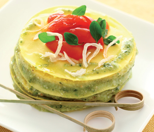 Ricetta lasagna al pesto e bagna cauda tra piemonte e for Alta cucina ricette